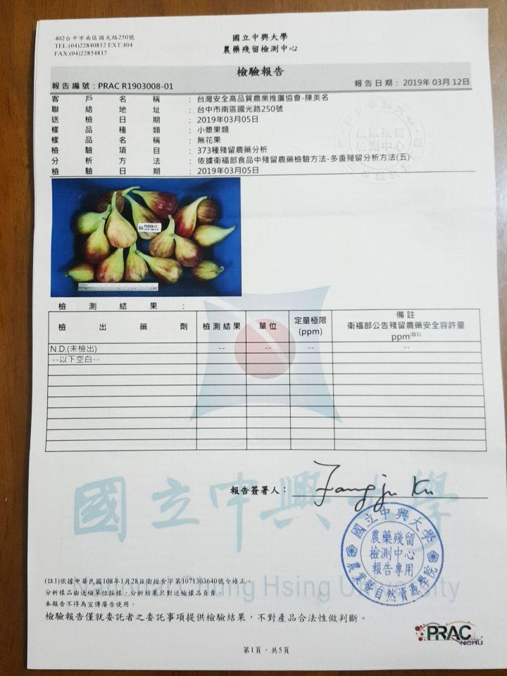 2019.3.5 最新農藥殘留檢測